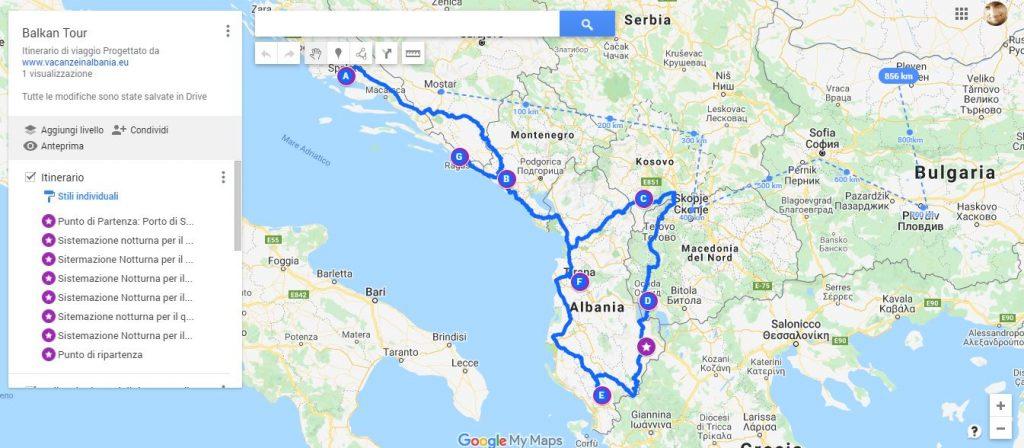 Pianificare un viaggio Usando Google Maps