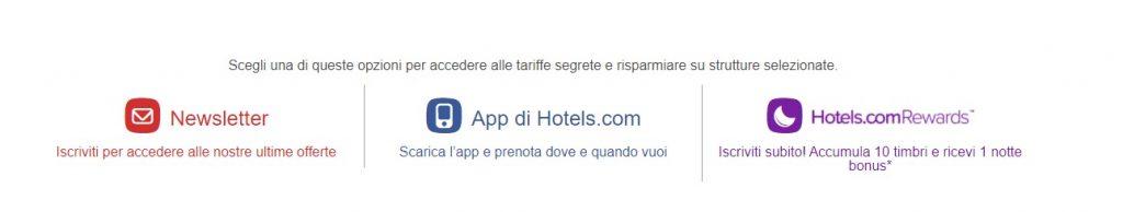 Trovare alloggio con Hotels